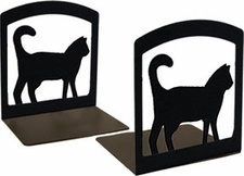 Bookends, Wrought Iron, Cat