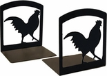 Bookends, Wrought Iron, Rooster