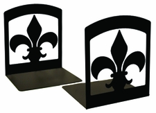 Bookends, Wrought Iron, Fleur-de-lis