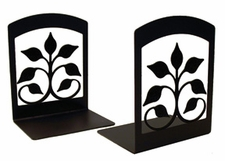 Bookends, Wrought Iron, Leaf Fan