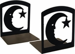 Bookends, Wrought Iron, Moon and Star