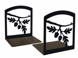 Bookends, Wrought Iron, Acorn