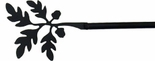 Curtain Rod, Acorn Finial, Wrought Iron, 21 - 35 inch