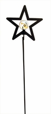 Lawn / Garden Stake, Star with Marble Ball