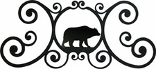 Wall Plaque, Sign, Bear, Wrought Iron, Over the Door