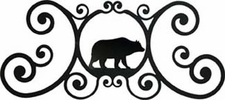 Wall Art, Plaque, Bear, Wrought Iron, Over the Door