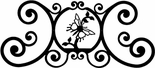 Wall Art, Plaque, Butterfly, Wrought Iron, Over the Door