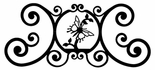 Wall Plaque, Sign, Butterfly, Wrought Iron, Over the Door