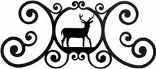 Wall Art, Plaque, Deer, Wrought Iron, Over the Door
