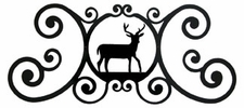 Wall Plaque, Sign, Deer, Wrought Iron, Over the Door