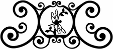 Wall Art, Plaque, Dragonfly, Wrought Iron, Over the Door