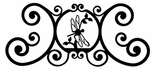 Wall Plaque, Sign, Dragonfly, Wrought Iron, Over the Door