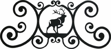 Wall Plaque, Sign, Elk, Wrought Iron, Over the Door