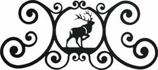 Wall Art, Plaque, Elk, Wrought Iron, Over the Door