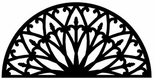 Wall Art, Wrought Iron, Half Round, Arch, 196