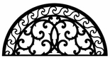 Wall Art, Wrought Iron, Half Round, Arch, 197