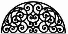 Wall Art, Wrought Iron, Half Round, Arch, 198