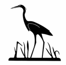 Wall Art, Wrought Iron, Heron Silhouette