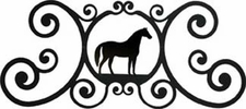 Wall Art, Plaque, Horse, Wrought Iron, Over the Door