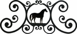 Wall Plaque, Sign, Horse, Wrought Iron, Over the Door