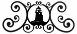 Wall Plaque, Sign, Lighthouse, Wrought Iron, Over the Door
