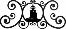 Wall Art, Plaque, Lighthouse, Wrought Iron, Over the Door