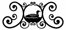 Wall Plaque, Sign, Loon, Duck, Wrought Iron, Over the Door