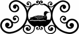 Wall Art, Plaque, Loon, Duck, Wrought Iron, Over the Door