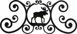 Wall Art, Plaque, Moose, Wrought Iron, Over the Door