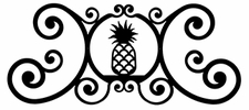 Wall Plaque, Sign, Wrought Iron, Pineapple, Over the Door