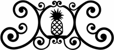 Wall Art, Plaque, Pineapple, Wrought Iron, Over the Door