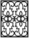 Wall Art, Wrought Iron, Rectangle 199