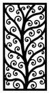 Wall Art, Wrought Iron, Rectangle 202