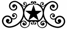 Wall Plaque, Sign, Wrought Iron, Star, Over the Door