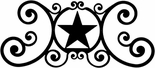 Wall Art, Plaque, Star, Wrought Iron, Over the Door