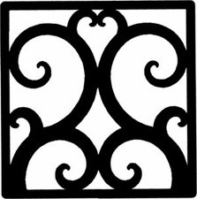 Wall Art, Wrought Iron, Square, Style 208