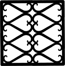 Wall Art, Wrought Iron, Square, Style 209