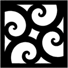 Wall Art, Wrought Iron, Square, Style 212