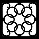 Wall Art, Wrought Iron, Square, Style 214