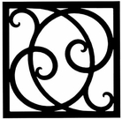 Wall Art, Wrought Iron, Square, Style 215