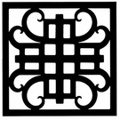 Wall Art, Wrought Iron, Square, Style 216