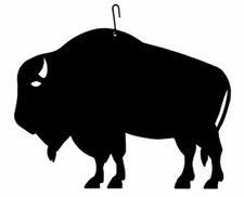 Buffalo Silhouette, Hanging Art, Wrought Iron