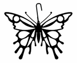 Butterfly Silhouette, Hanging Art, Wrought Iron
