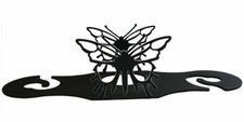 Wine for Two, Wine Glass Holder, Butterfly, Wrought Iron