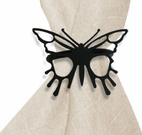Napkin Ring, Wrought Iron, Butterfly, Set of 4