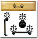 CABINET PULLS, HANDLES, KNOBS, WROUGHT IRON