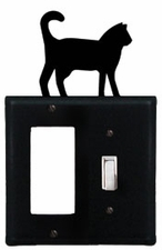 GFI and Switch Cover, Cat, Wrought Iron