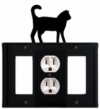 GFI, Outlet and GFI Cover, Cat, Wrought Iron