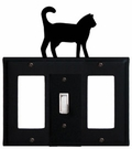 GFI, Switch and GFI Cover, Cat, Wrought Iron