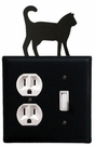 Outlet and Switch Cover, Cat, Wrought Iron